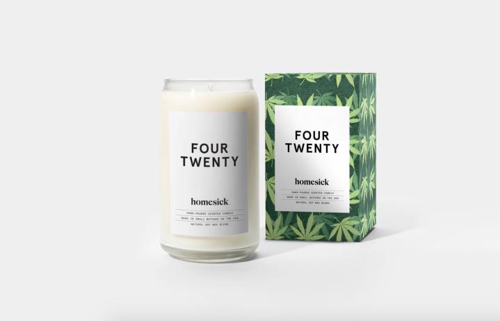 heyhellohigh stoner girl decor homesick four twenty candle