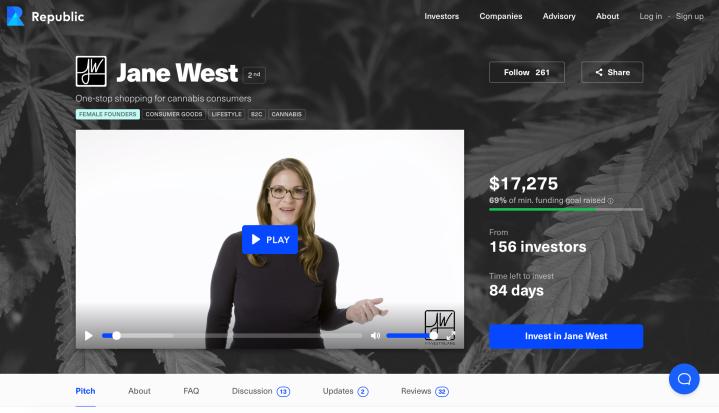 Jane West Republic Deal Page