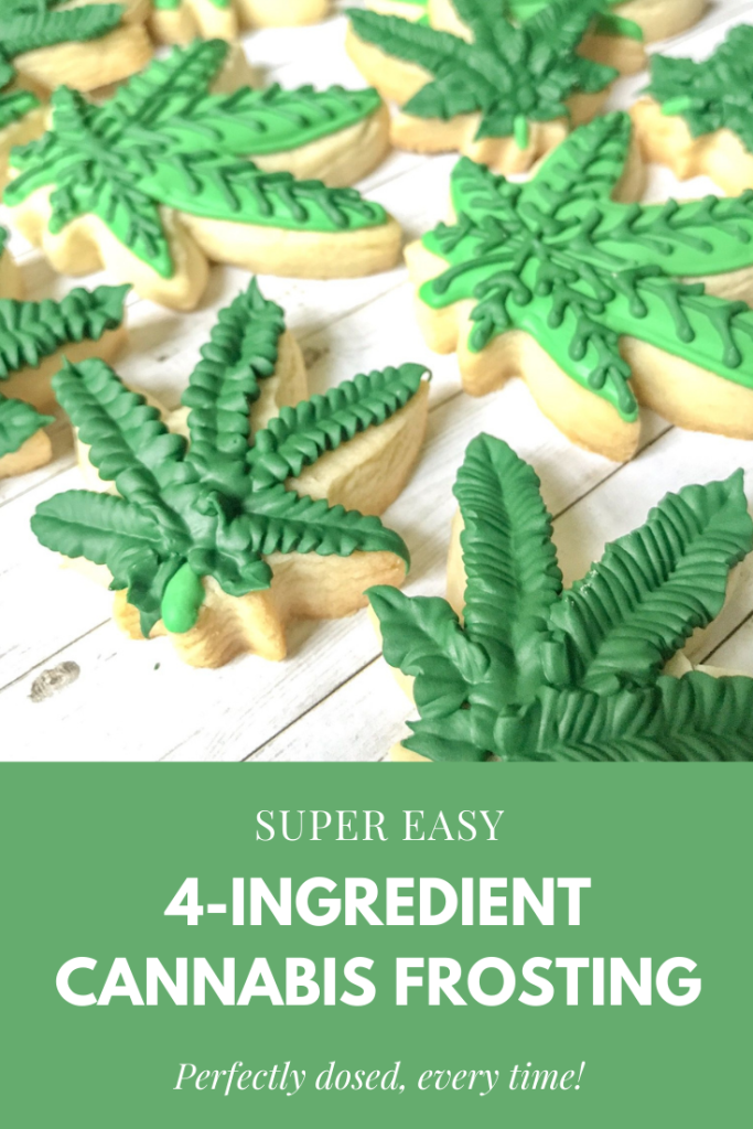 super easy 4 ingredient cannabis frosting pin